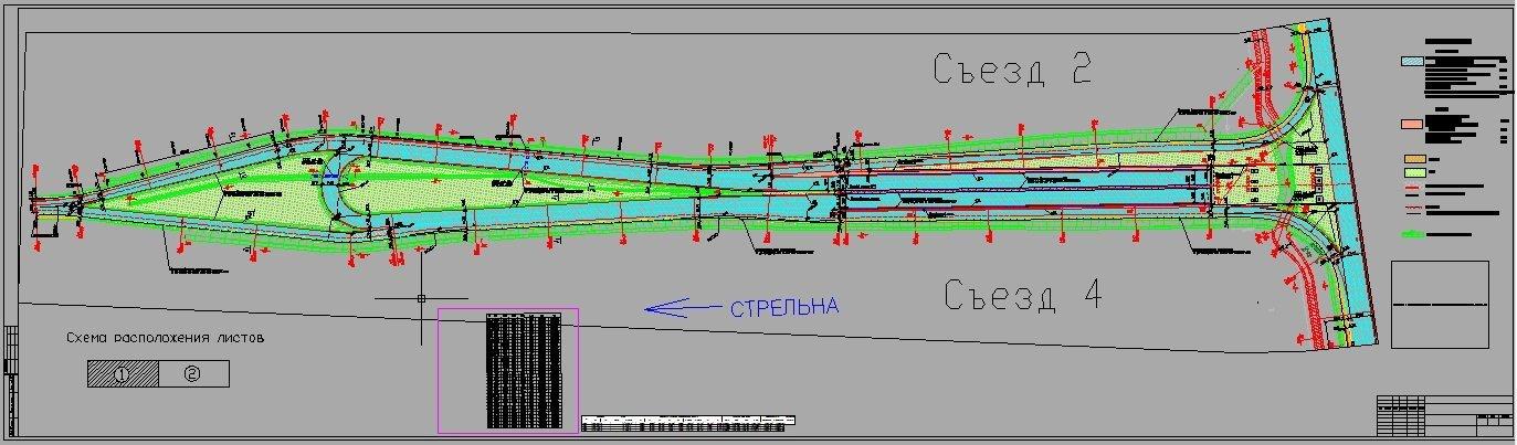 Схема западной части развязки