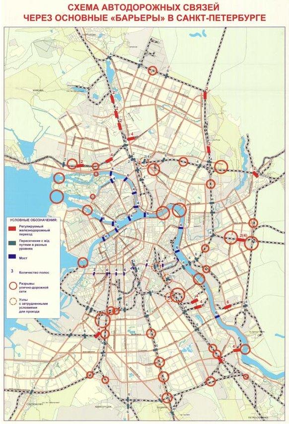 Схема автодорожных связей