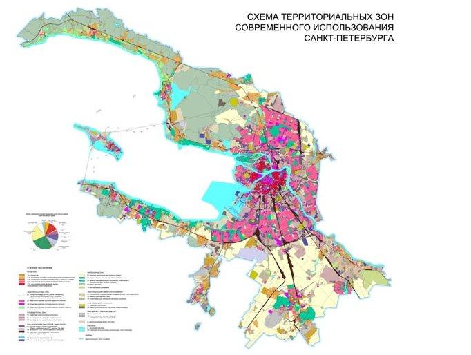 Схема территориальных зон