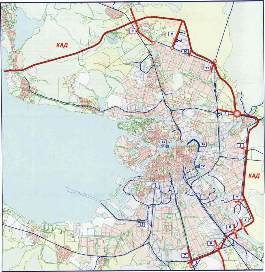 Кад вокруг санкт-петербург схема