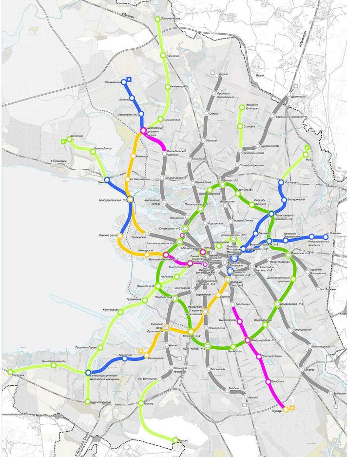 метрополитена до 2020 года