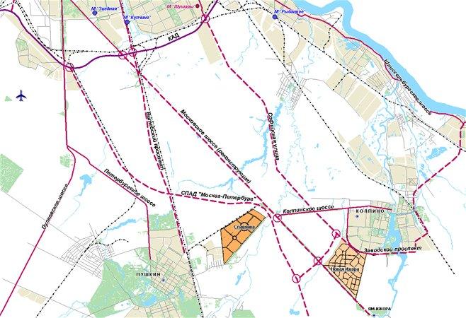 Схема развития дорог к