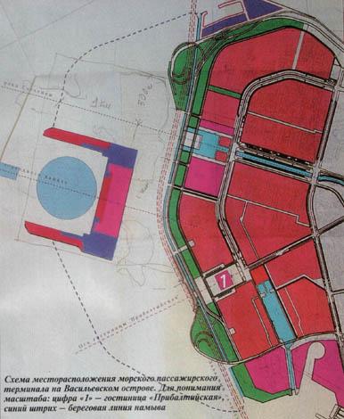 Схема участка ЗСД вдоль